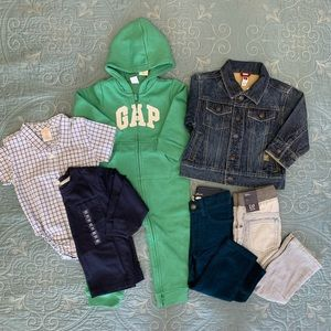 NWT Toddler hoodie jeans shirt 6 piece bundle